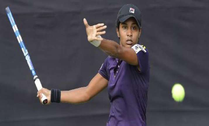 fed cup india scores second win beats pakistan