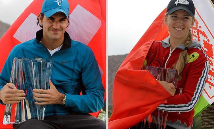 federer azarenka win titles in california desert