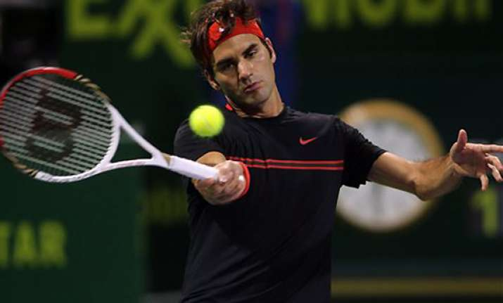 federer tsonga into semis at qatar open