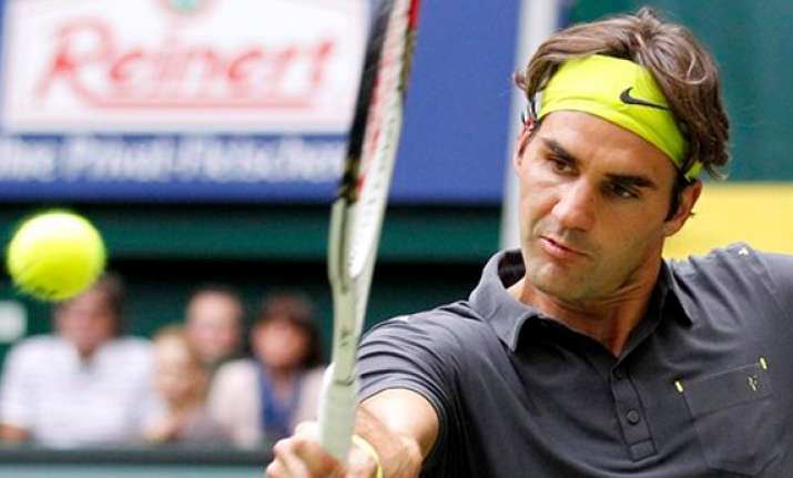 federer loses in halle final haas victorious