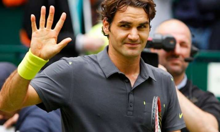 federer reaches 7th halle final faces haas