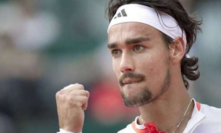 fognini survives scare to beat sousa in 1st round