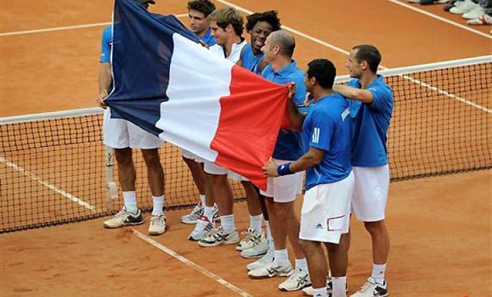 france beats germany to reach davis cup semifinals