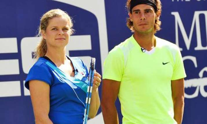 french open nadal clijsters score contrasting wins