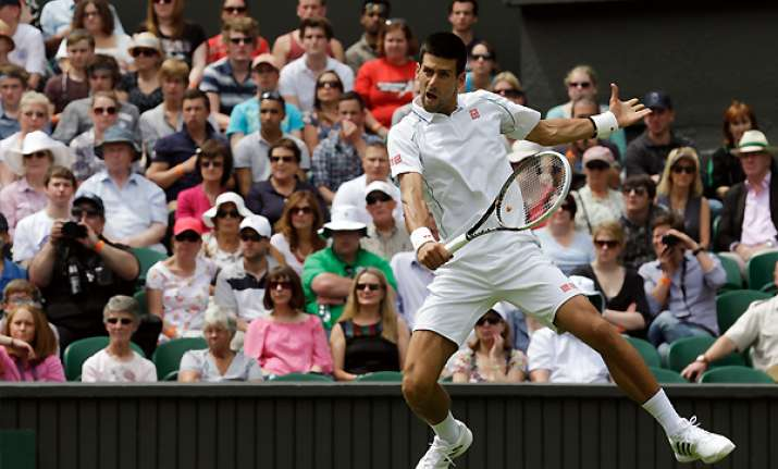 golf club ready djokovic wins wimbledon opener