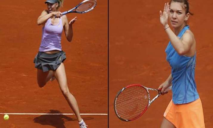 sharapova halep reach madrid open final