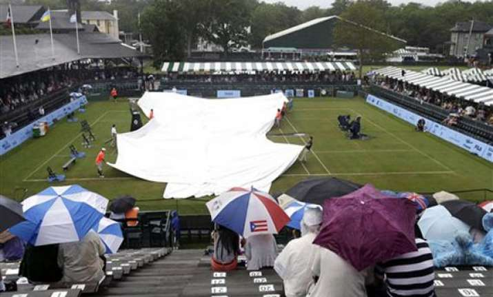 hall of fame tennis championship semifinals postponed by
