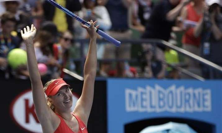 australian open 2015 maria sharapova beats makarova to