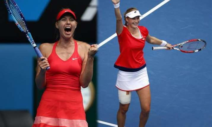 australian open 2015 sharapova to play makarova in