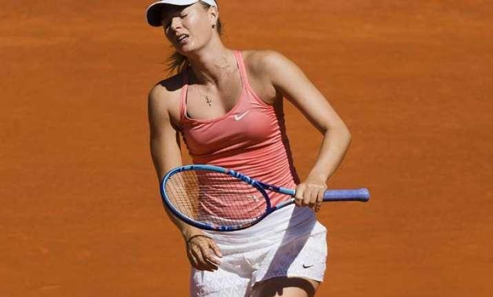 sharapova loses to kuznetsova in madrid open semifinals