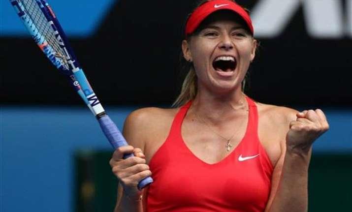 australian open 2015 maria sharapova through to semifinals