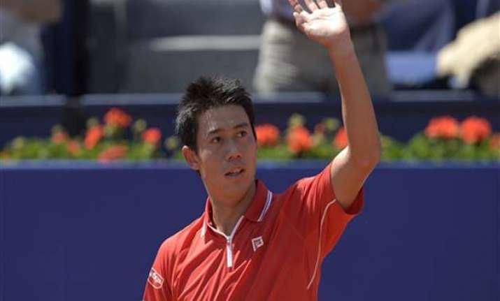 nishikori beats giraldo to reach barcelona open quarterfinal