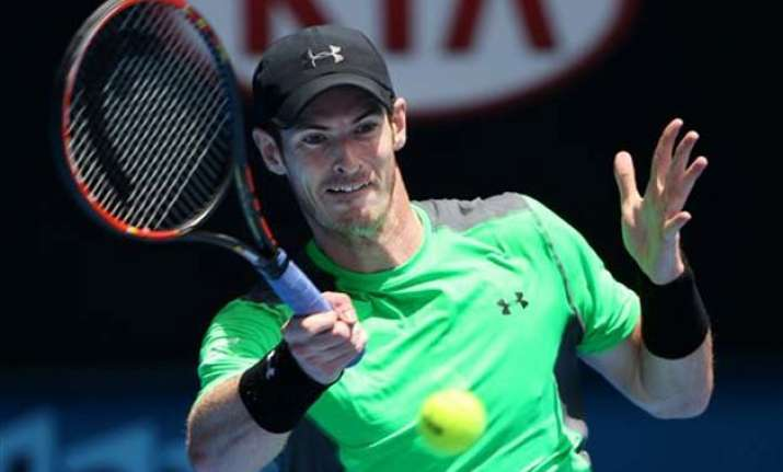 andy murray wins 1st round match at the australian open