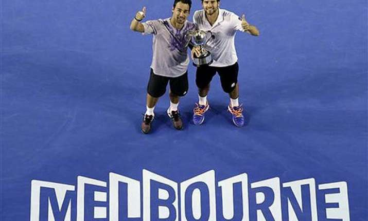fognini bolelli win men s doubles at australian open