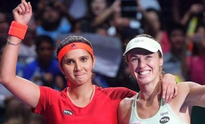 sania mirza martina hingis claim 29th straight win in