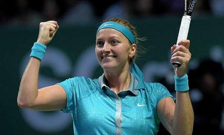 wta finals petra kvitova beats maria sharapova 6 3 6 2