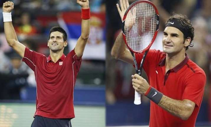 djokovic federer set up shanghai semifinal