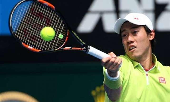 australian open nishikori advances azarenka into 2nd round