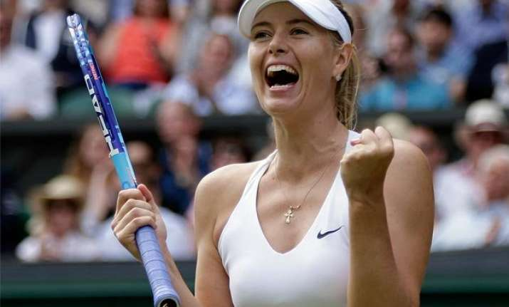maria sharapova subdues vandeweghe to reach wimbledon