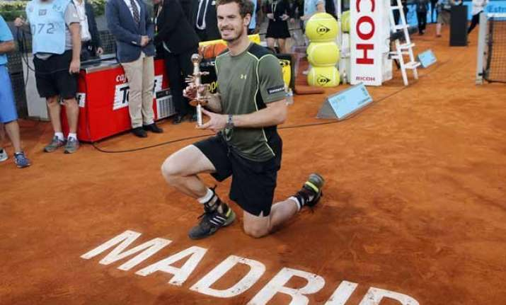 murray beats nadal 6 3 6 2 to win the madrid open final