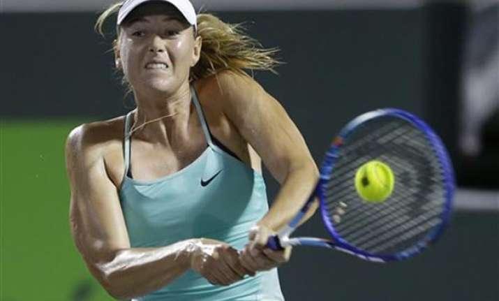 sharapova loses opening match at miami open to gavrilova