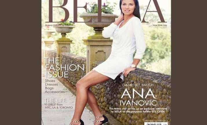 serbian tennis ace ana ivanovic poses for glamorous bella