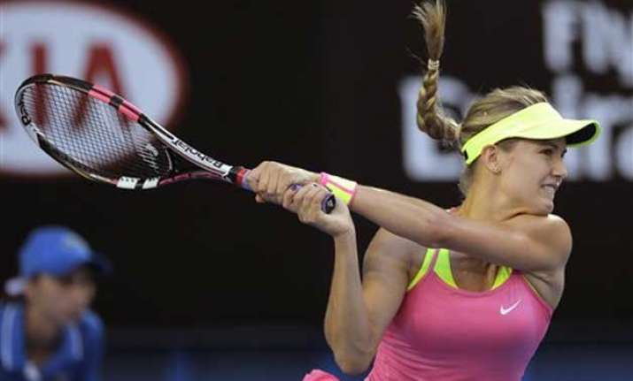 tennis star bouchard happy with performance