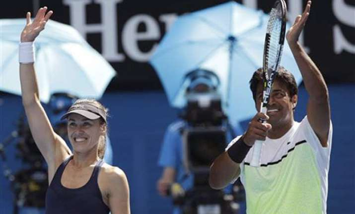 australian open 2015 paes and hingis storm into finals