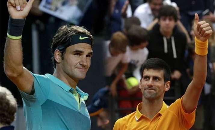 federer and djokovic to renew rivalry in italian open final