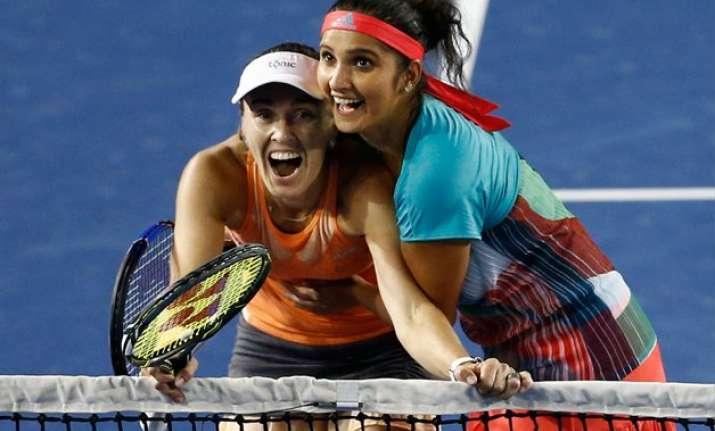 sania hingis win australian open women s doubles title