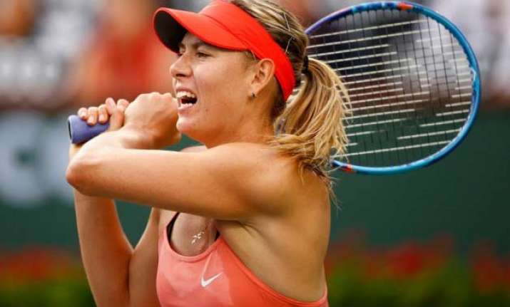 sharapova out federer serena nadal move on at indian wells