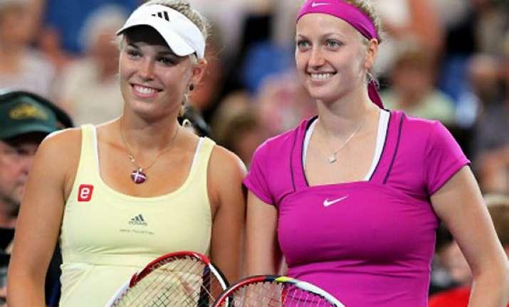 kvitova wozniacki win openers at dubai