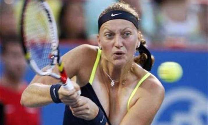 kvitova advances kerber upset in new haven open