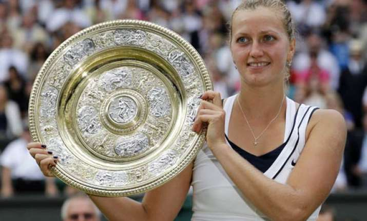kvitova beats sharapova to win wimbledon title