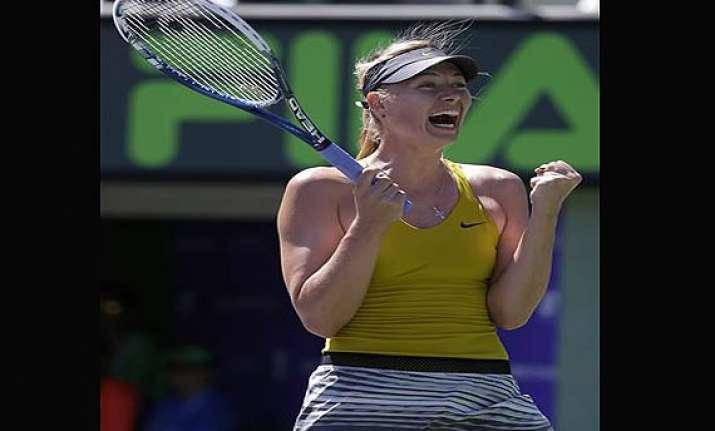 maria sharapova returns to semifinals at key biscayne.