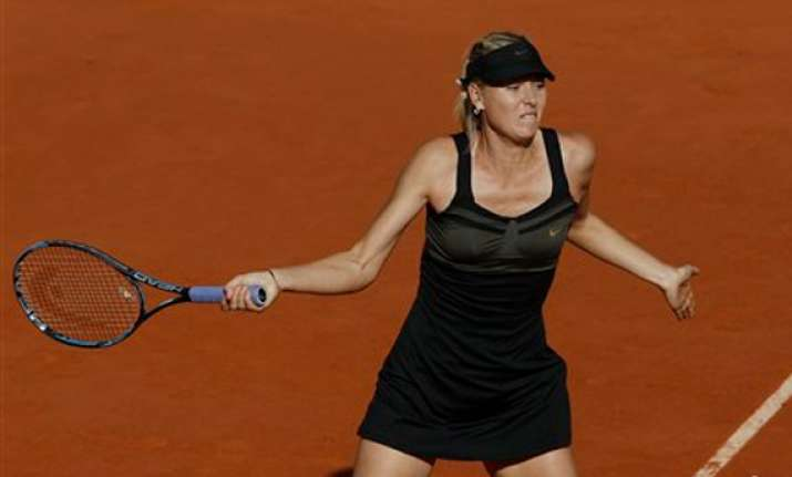 maria sharapova makes french open final