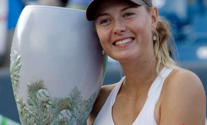 maria sharapova wins cincinnati wta title