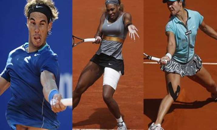 nadal serena li na advance to madrid quarters