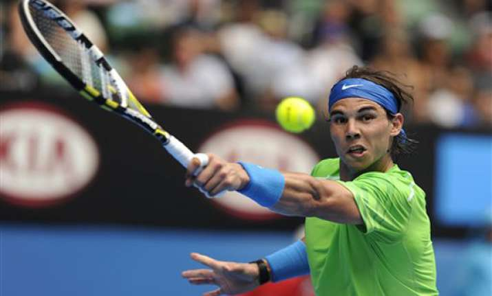 nadal into 4th round in australia knee is ok