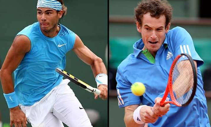 nadal murray advance in french open