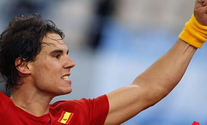 nadal rallies for win to give spain davis cup