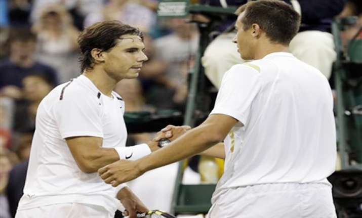 nadal stunned at wimbledon by 100th ranked rosol