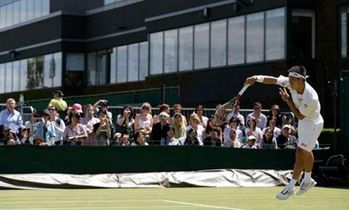 nishikori reaches 3rd round of wimbledon