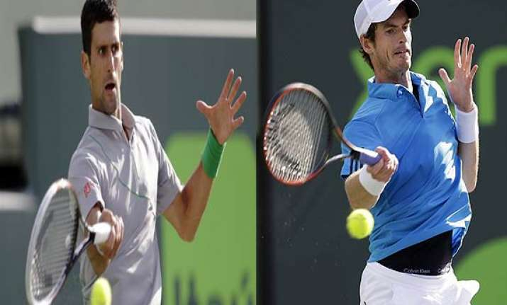 novak djokovic beats andy murray in sony open quarterfinals.
