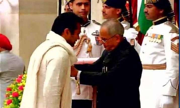 paes conferred padma bhushan