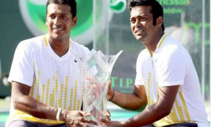 paes bhupathi pair clinches miami title become world no.1