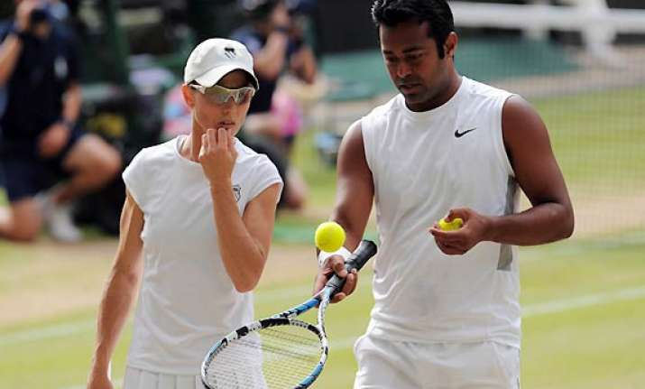 paes black out of wimbledon mixed doubles
