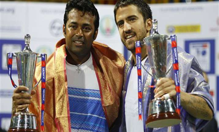 paes tipsarevic win doubles crown in chennai open