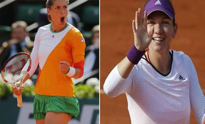 petkovic halep reach french open semifinals
