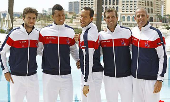 pressure on france in davis cup as us takes lead
